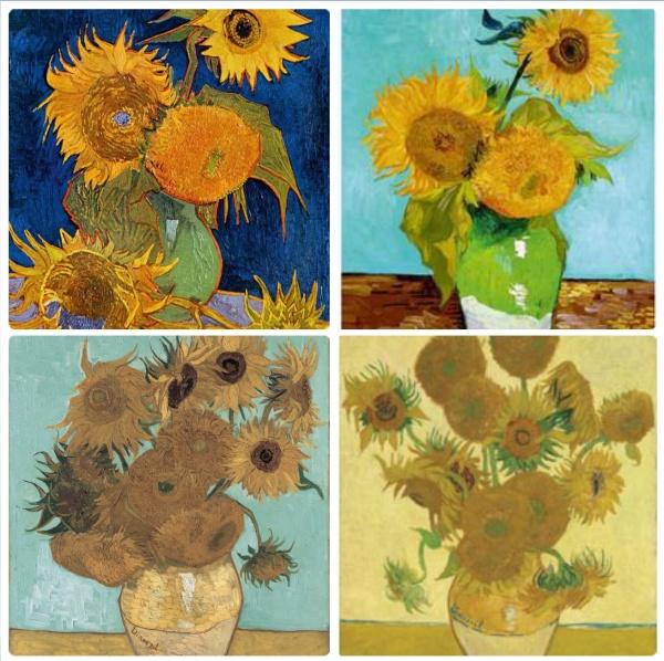 3,6,14 & 15 Van Gogh's Sunflowers (series of 4 paintings)