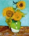Three Sunflowers – Vincent Van Gogh, Aug 1888.